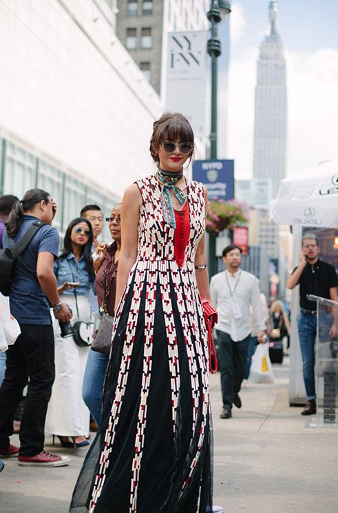 帅美并存的纽约时装周街头