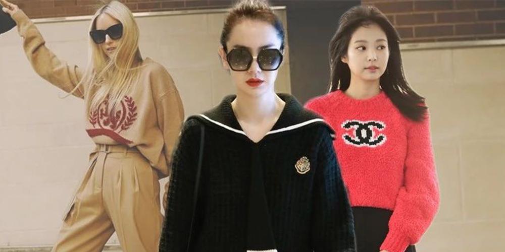 跟戚薇、Jennie学穿针织衫+直筒裤,职场女性的金牌搭配法则